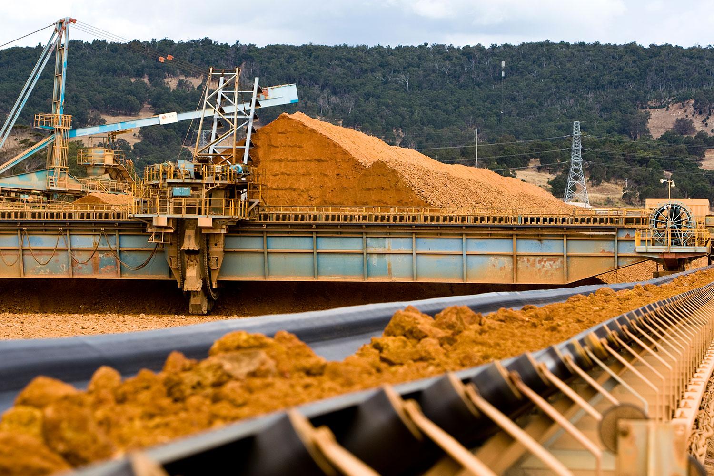 Bauxite stockpile wagerup Australia